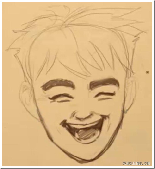 It's no joke: How to draw a laughing face easily