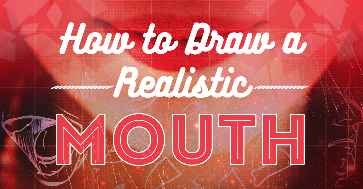 how to draw a realistic vampire mouth