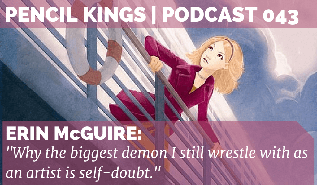 PK 043: Nancy Drew Illustrator Erin McGuire on Self-doubt and Getting Your Art Noticed 2 043 Erin McGuire Podcast 01