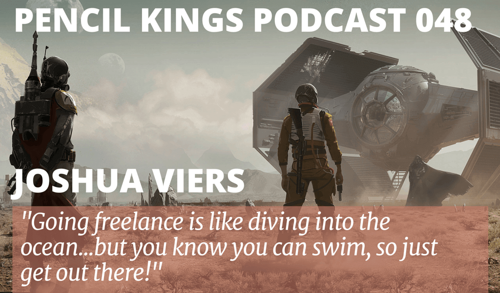 PK 048: Joshua Viers on how to be a Freelance Artist 2 048 Joshua Viers podcast feat image