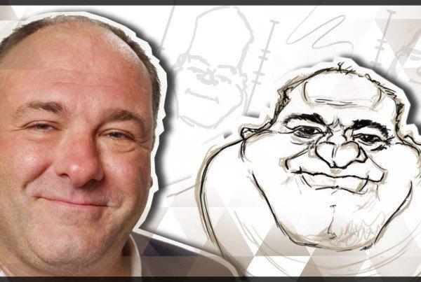 james-gandolfini-caricature-sketching