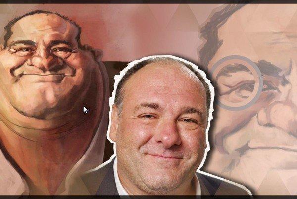 James Gandolfini caricature painting rendering