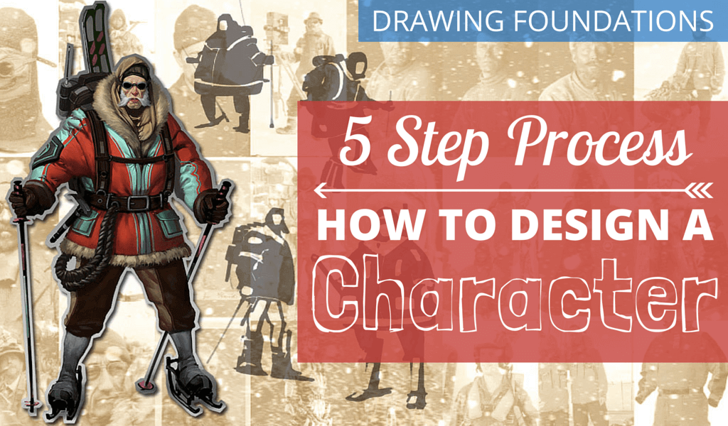 Character Design Tips For Better Concept Art: 5 Step Process 4 How to Design a Character Featured Image V1