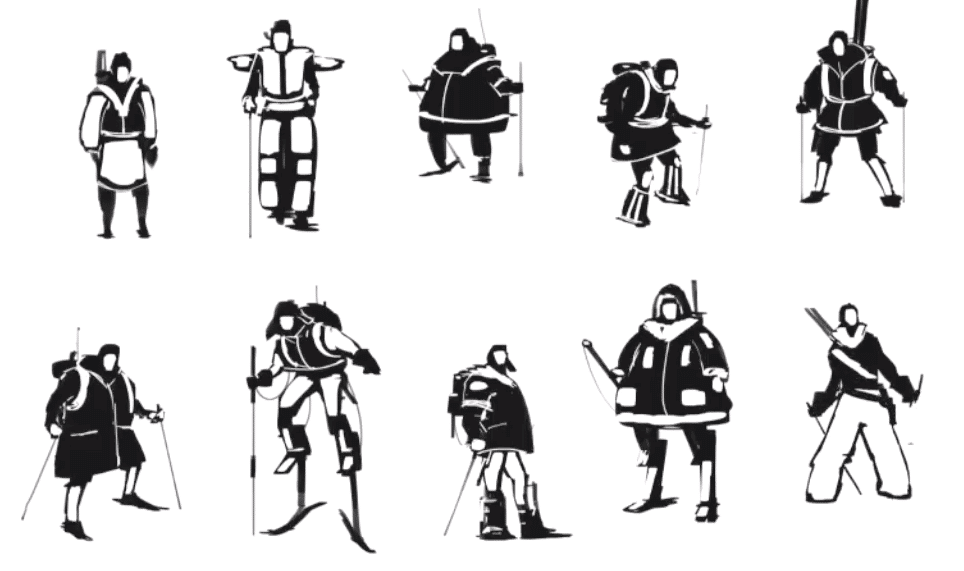 character design thumbnails