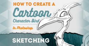 how-to-create-a-cartoon-bird-sketching-feat-image