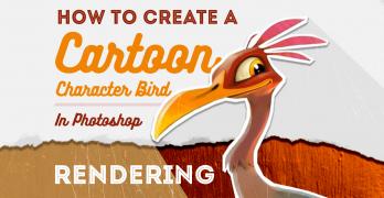 How to Create a Cartoon Character Bird Pt 3: Rendering