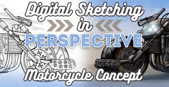 Digital Sketching in Perspective Pt2 – Motorcycle Concept Art