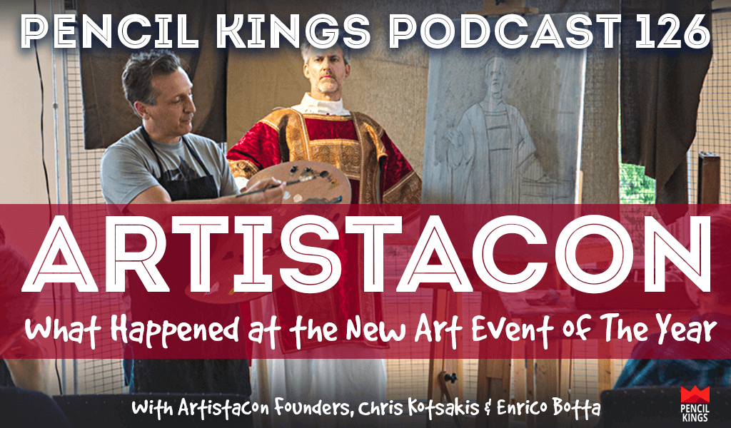 PK 126: Artistacon 2016 - What Happened at The New Art Event of The Year? Interview With Chris Kotsakis & Enrico Botta 2 pk 126 artistacon art convention pencil kings podcast pk