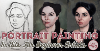 Portrait Painting in Oils For Beginner Artists Pt2 – Color Blocking in Oils