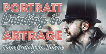 Portrait Painting in ArtRage – Learn how to Paint an Awesome Digital Portrait of Actor, Tom Hardy