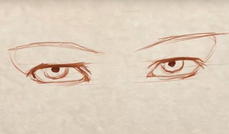 how to draw symmetrical eyes
