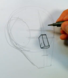 how to draw the planes of the face
