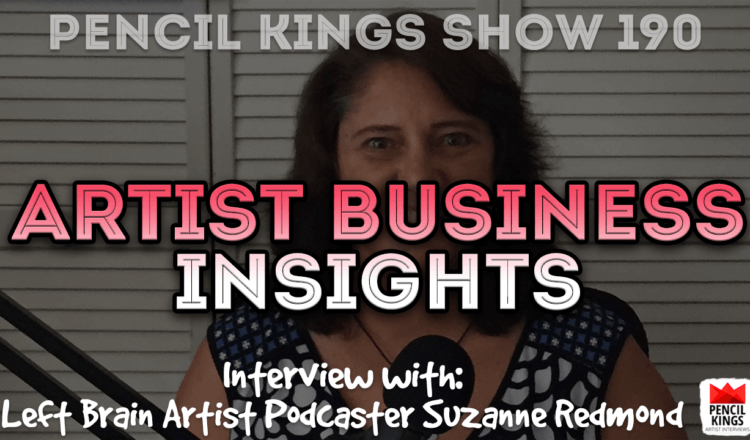 PK 190: Artist Business Insights with Suzanne Redmond of the Left Brain Artist Podcast 2 PK 190 Suzanne Redmond 750x440 1
