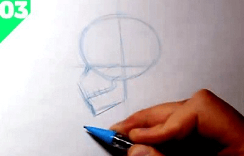 How to Draw the Skull 5 how to draw a skull 03