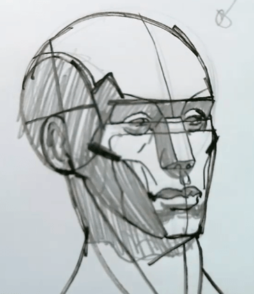 How to Draw the Planes of the Face 3 how to draw the planes of the face 01