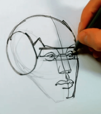 How to Draw the Planes of the Face 7 how to draw the planes of the face 05