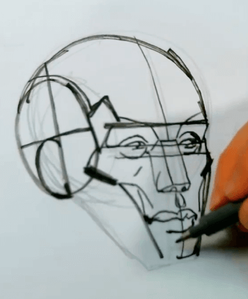 How to Draw the Planes of the Face 8 how to draw the planes of the face 06
