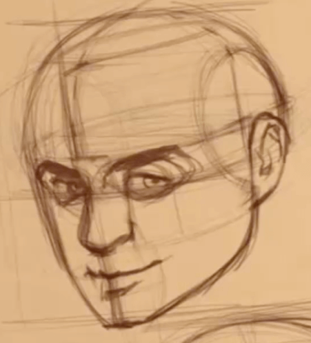 How to Draw The Proportions of the Face 12 how to rotate the head 010