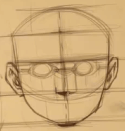 How to Draw The Proportions of the Face 9 how to rotate the head 07