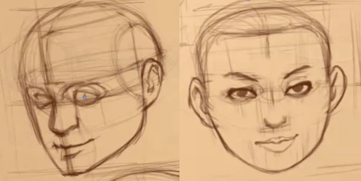 How to Draw The Proportions of the Face 11 how to rotate the head 09