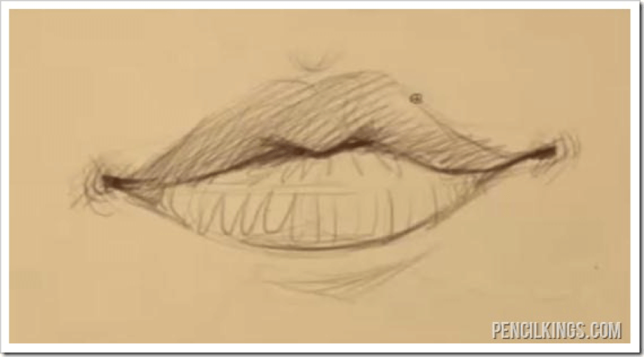How to Draw a Mouth – Why Male and Female Lips are Different 5 male and female mouths 05