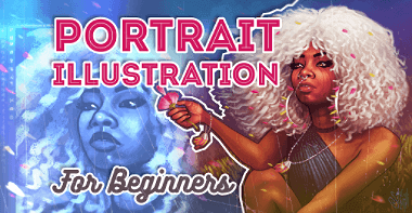 Courses 19 portrait illustration for beginners feat image TH